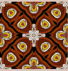 Tapestry ethnic colorful seamless pattern vector