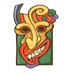 Tiki idol icon vector