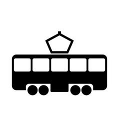Tram icon vector