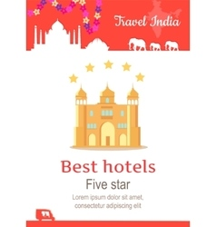 Travel India Conceptual Poster vector image
