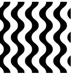 Vertical wavy lines seamless pattern black vector