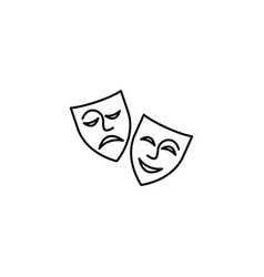 web icon theater masks comedy and tragedy vector image
