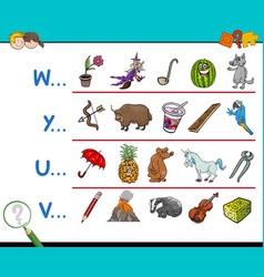 Word start letter activity vector