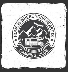 camper and caravaning club vector image vector image