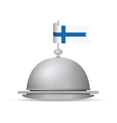 finland flag dinner platter vector image vector image