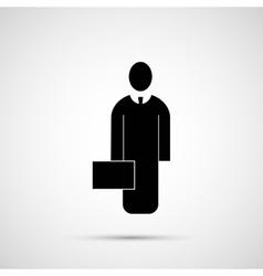 People design Icon man with briefcase vector image
