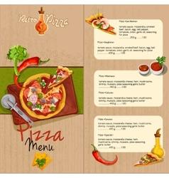 Pizza restaurant menu vector image