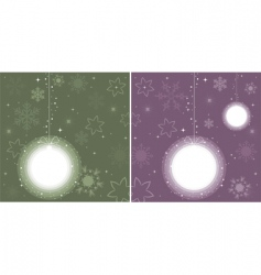 balls for Christmas tree vector image