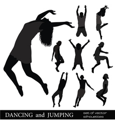 dancing and jumping vector image vector image