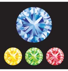 gemstones vector image vector image