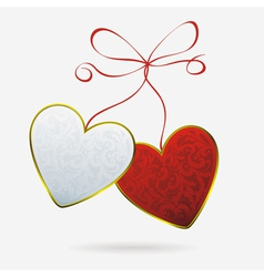 hearts bound vector image vector image