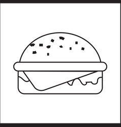 icon depicting a hamburger a simple drawing vector image