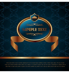 royal background with artistic award vector image vector image