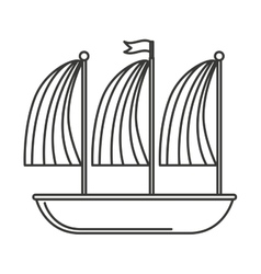 ship sailboat maritime icon vector image
