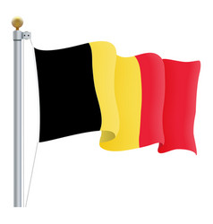waving belgium flag isolated on a white background vector image vector image