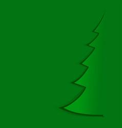abstract green christmas tree-template vector image