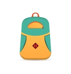 Backpack flat icon vector image vector image