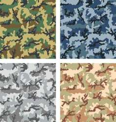 camouflage patterns vector image vector image