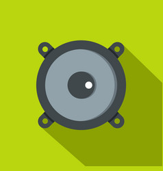 frontal audio speaker icon flat style vector image