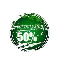 Grunge sale tag vector image