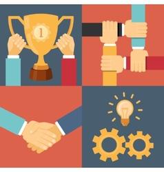 handshake partnership victory vector image