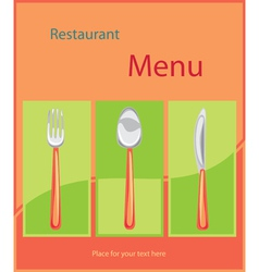 restaurant menu background vector image vector image