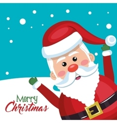 santa claus cheerful merry christmas vector image
