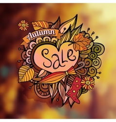 decorative autumn sale blurred background vector image
