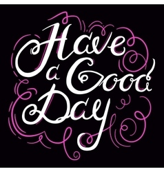 Lettering Have a G Day 4 vector image