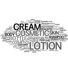 Lotion word cloud concept vector