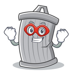 super hero trash character cartoon style vector image