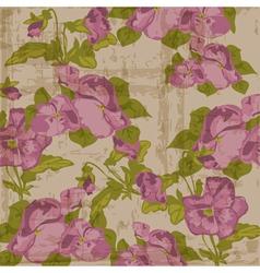 vintage viola flowers vector image vector image