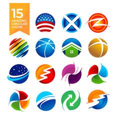 15 amazing circular shape logos vector