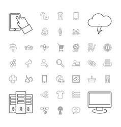 37 internet icons vector