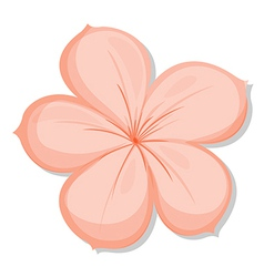 A five-petal flower vector image