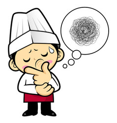 a worried chef character that problem is such a vector image