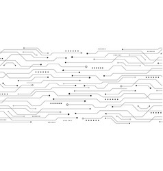 abstract pattern black line circuit board on vector image
