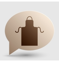 Apron simple sign Brown gradient icon on bubble vector