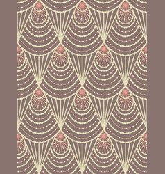 art deco beige pattern vector image