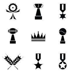 Awards icon set vector