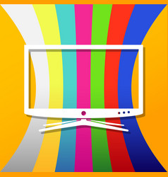 Background with smart tv vector