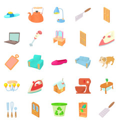 bascule icons set cartoon style vector image