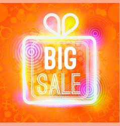 Big sale words in box of big vector