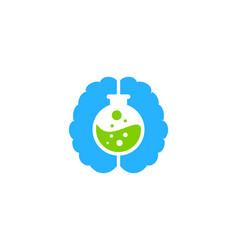 brain science lab logo icon design vector image