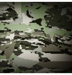 Camouflage military halftone pattern background vector