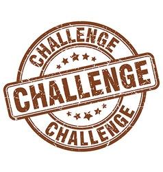 Challenge brown grunge round vintage rubber stamp vector