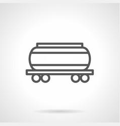 cistern black simple line icon vector image