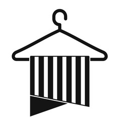 clean towel icon simple style vector image