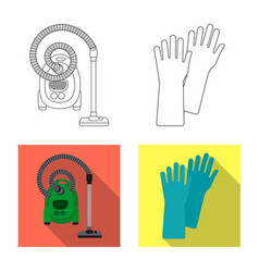 Cleaning and service symbol vector