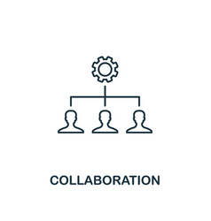 collaboration outline icon thin line element from vector image